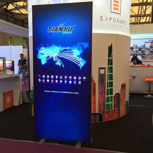 Fabric Backlit LED Dynamic Light Box Frameless Iklan Display, Aluminium Board Lampu
