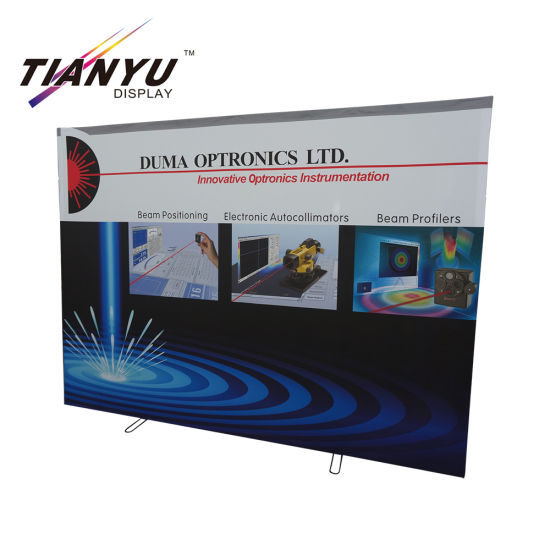 Full Color Portabel 3x3 Lurus Banner Pop up stand