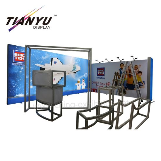 Hijau dan Lingkungan Reusable Aluminium Lampu Box 6X6 Exhibition Booth